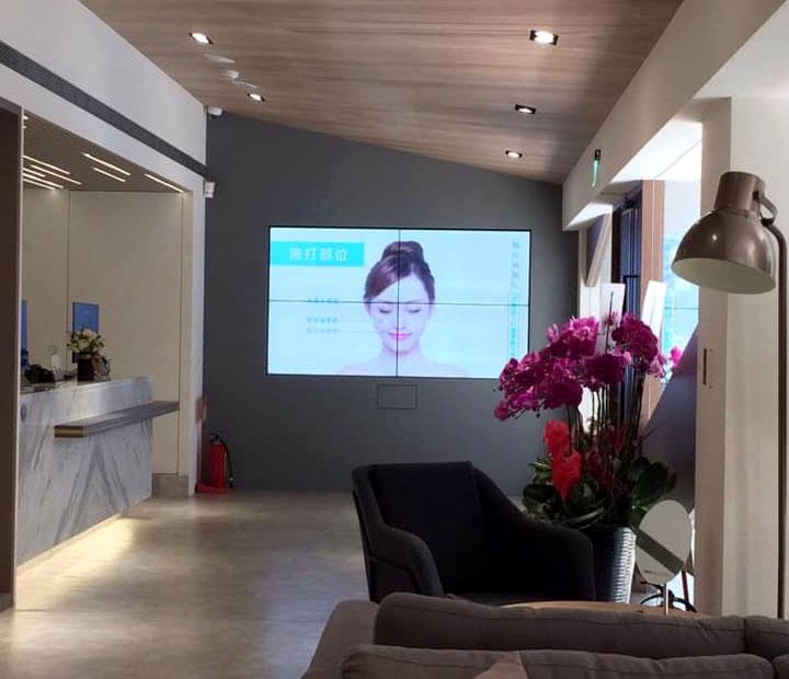 尼斯診所- 46吋2*2 窄邊框拼接電視牆